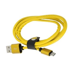 PLATINET MICRO USB TO USB LEATHER CABLE 1M 2
