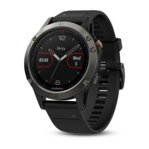 GARMIN zegarek Fenix 5 Sapphire Black/Silicone