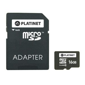 Platinet microSDHC 16GB Class 10+adapter SD