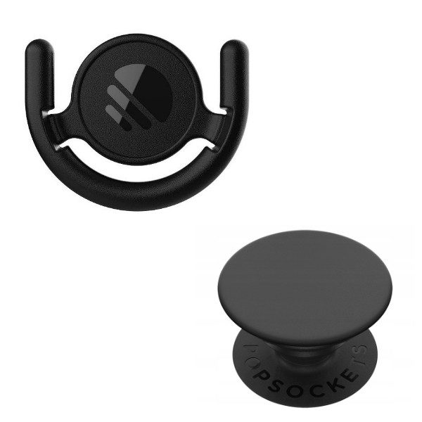 POPSOCKETS  Combo Pack - Mount + Black PopSocket Grip