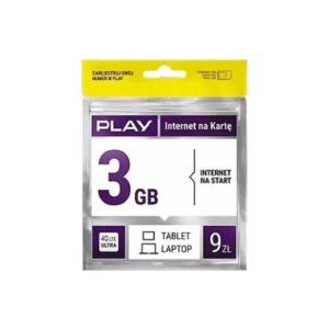 P4 Starter PLAY INTERNET NA KARTĘ 9PLN 5GB MULTI