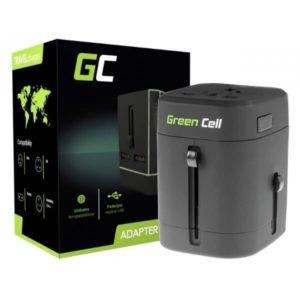Przejściówka Green Cell z Dwoma Portami USB do Gniazdka Elektrycznego USA / UK /