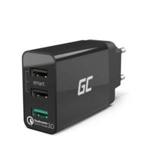Ładowarka sieciowa Green Cell 3xUSB 30W z szybkim ładowaniem Quick Charge 3.0