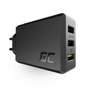 Ładowarka sieciowa Green Cell GC ChargeSource 3 3xUSB 30W z szybkim ładowaniem U