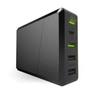 Green Cell Power Source 75W 4-portowa ładowarka z USB-C PD z możliwością ładowan