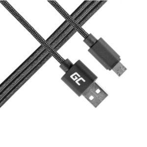 Kabel Przewód Green Cell Micro USB - USB Nylonowy 100cm z obsługą szybkiego łado