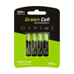Baterie Akumulatorki Paluszki 4x AAA HR03 950mAh Green Cell