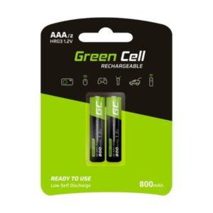 Baterie Akumulatorki Paluszki 2x AAA HR03 800mAh Green Cell