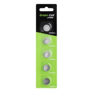 Blister 5x Bateria Litowa Green Cell CR1620 3V 70mAh Guzikowa Pastylkowa