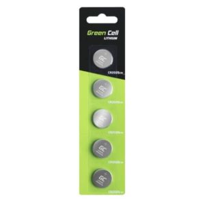 Blister 5x Bateria Litowa Green Cell CR2025 3V 160mAh Guzikowa Pastylkowa