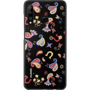 Huawei ETUI P30 Lite  plecki dekoracyjne TPU kwiecisty czarny